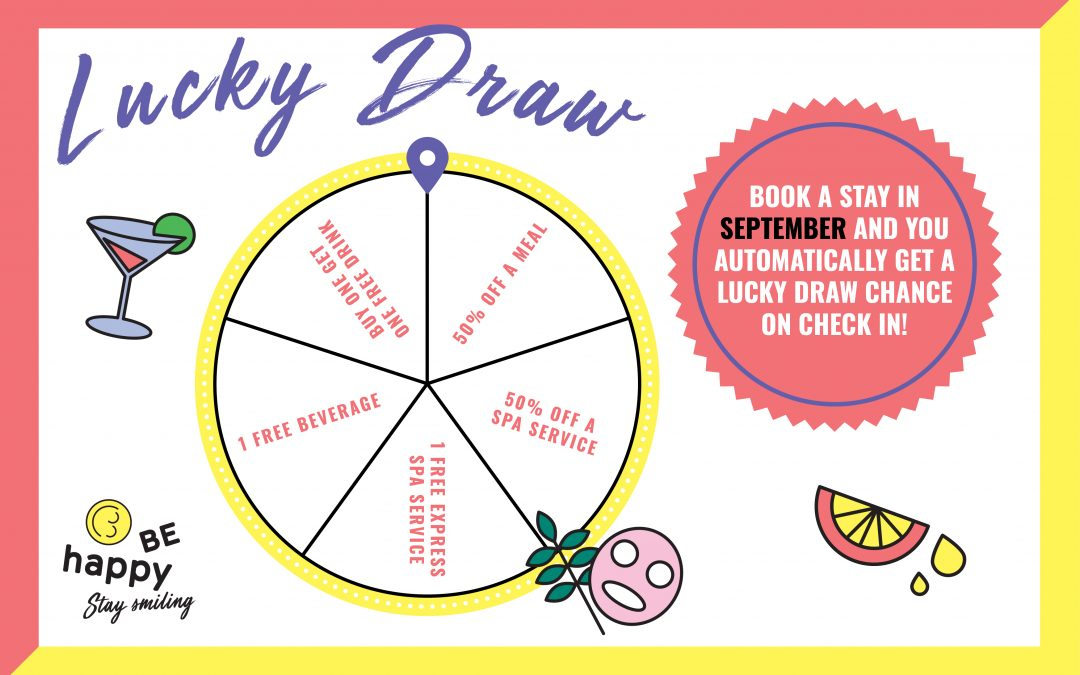 BE Happy Guesthouse Spin the Wheel Rooms Deal September and October